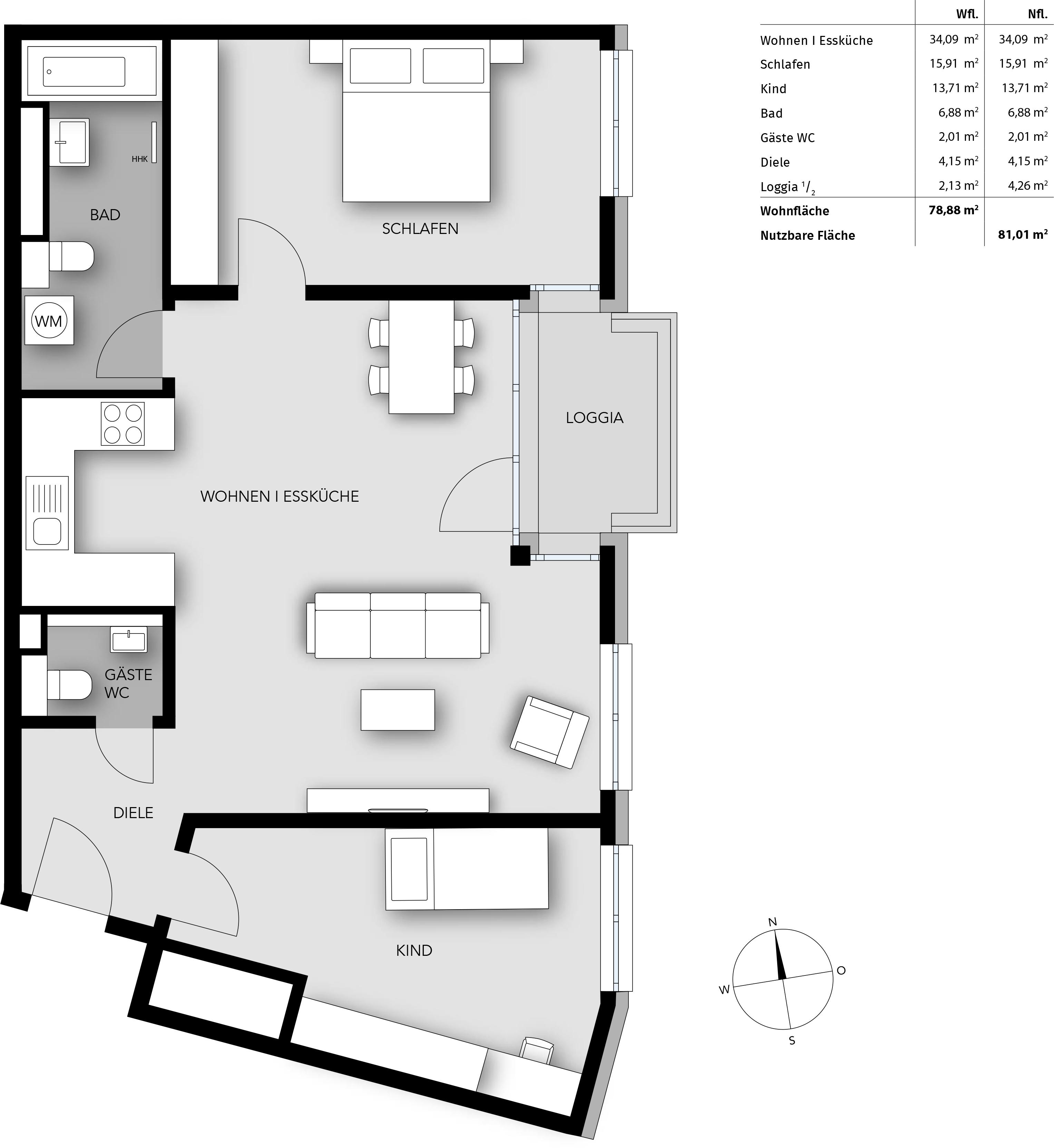 Bayhaus immobilien wohnen am s dpark for Moderne grundrisse wohnungen beispiele
